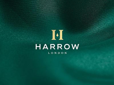 Harrow Menswear Logo Design luxury logo luxury brand harrow bespoke icon identity branding logo design clothing london tailor suit menswear premium luxury logo