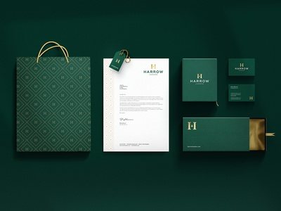 Harrow Menswear Branding