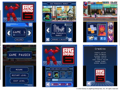 Big Hero 6 - Battle in the Bay (UI) ux ui disney big hero 6