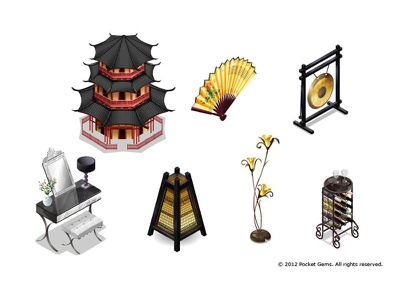 Campus Life Assets vector isometric decorations