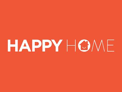 Happy Home Company Logo redesign wordmark typography logotype logo lettering happy home identity branding