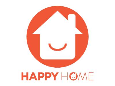 Happy Home Company variant logo branding identity happy home lettering logo logotype typography wordmark