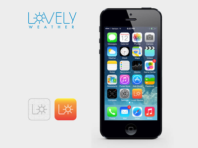 Lovely Weather app icon lovely weather product logo iphone ipad ios icons appstore application