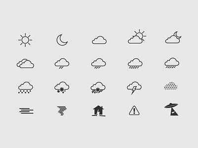 Lovely Weather App Weather Icons wind weather tornado sun snow rain moon lightning icons hail fog cloud