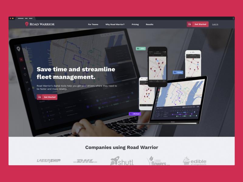 Road Warrior Marketing Website by Studio Simpatico | Dribbble | Dribbble