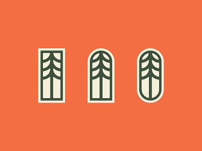 Happy Trees Icon Exploration iconset icons icon graphic vector design brand identity art direction graphic design branding design logo illustrator debut branding minneapolis illustration