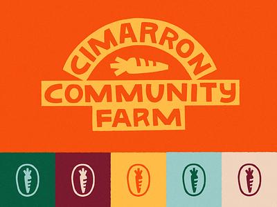 Cimarron Community Farm Branding colorful community farmers market farming organic logos logo design design graphic design brand identity illustrator branding design minneapolis logo branding debut illustration