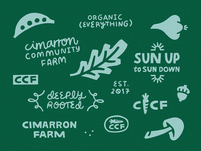 CCF Lockups local minnesota farm organic art direction graphic design brand identity illustrator branding design minneapolis logo branding debut illustration