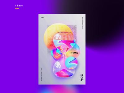 FLOYD | TIME | Illustrative Poster