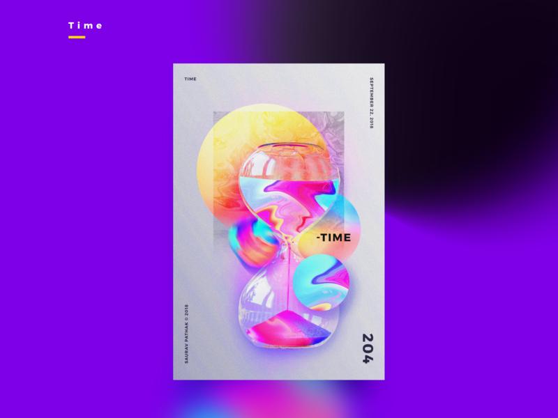 FLOYD | TIME | Illustrative Poster pink floyd design color palette illustration colors poster vibrant