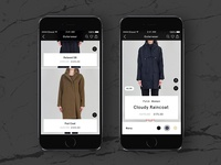 Outerwear (Mobile Ecommerce UI)