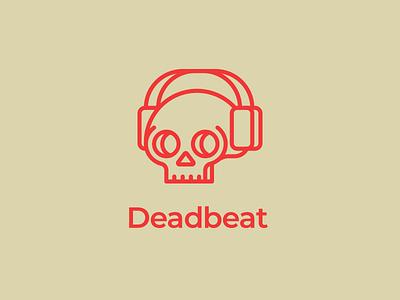 "Thirty Logos — Challenge 23 — ""Deadbeat"" daily thirtylogos thirty logos music red skull logo deadbeat"
