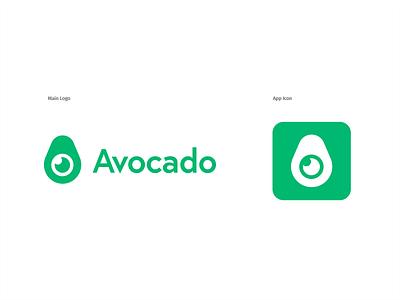 "Thirty Logos — Challenge 24 — ""Avocado"" thirtylogos thirty logos daily app green logo avocado"