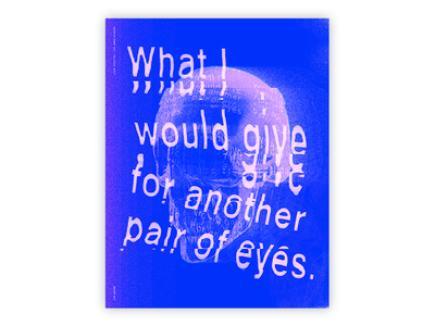 """(Poster) The Chrisolux Project — """"Delicious Apple"""" chrisolux typography blue type abstract design glitch poster eyes"""
