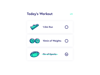 Daily UI Day 062 — Workout of the Day