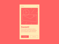 Daily UI Day 078 — Pending Invitation