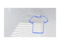 Website Illustration — A Blue T-Shirt