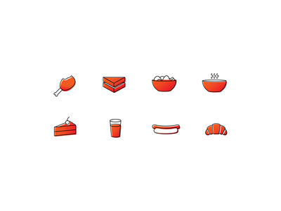 Food Menu Icons lines illustration food art food icons menu icon food