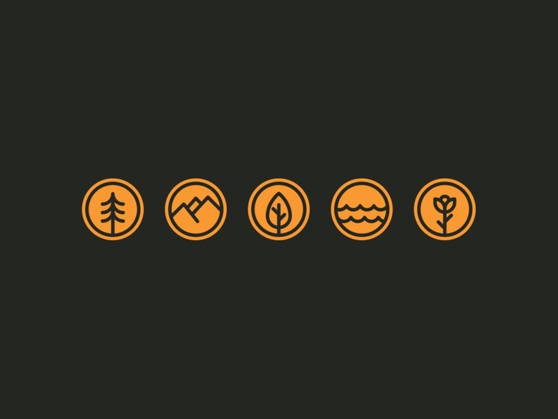 Daily UI Day 084 — Badge simple badges badgedesign lines dailyui ui daily ui orange nature forest badge