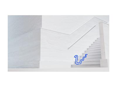 Website Illustration — Happy Snake simple illustration blender3d blender architecture render 3d design ik blue blue snake