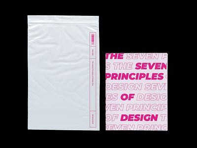 Zine — The Seven Principles of Design typography design vector die cuts reptiles lizard illustraion booklet booklet design magenta graphic design graphicdesign zine