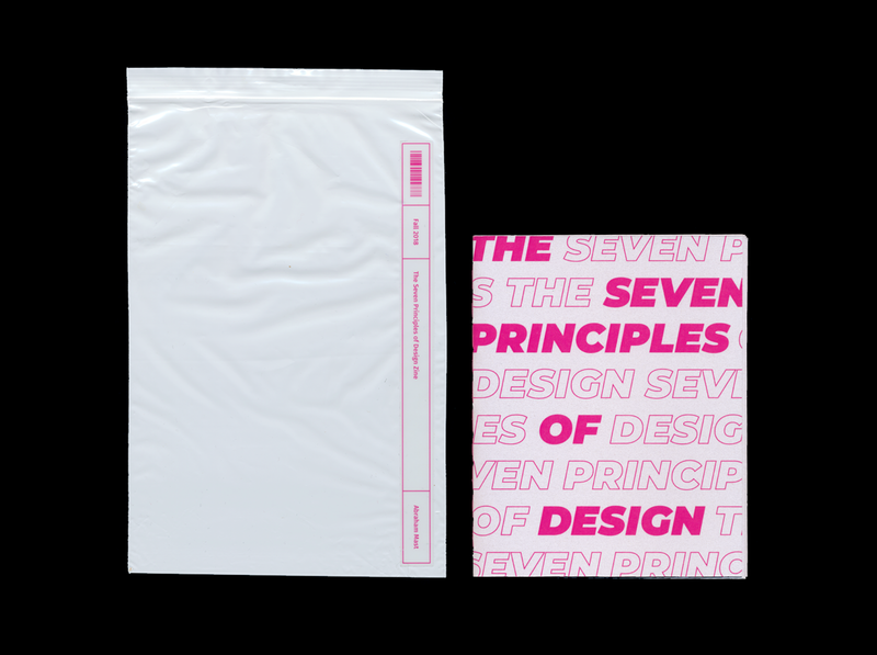 Zine — The Seven Principles of Design typography design vector die cuts reptiles lizard illustraion booklet booklet design magenta graphic design graphicdesign zine