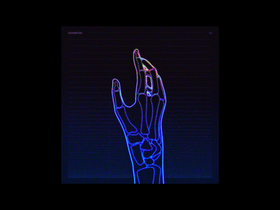 X-Ray Hand — Album Cover Design hand design retro 80s glow neon x-ray album artwork album cover artwork album art album cover design album cover