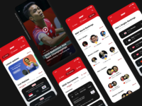 Sports Match App - Overview - Badminton World Federation sports sports design indonesia leaderboard video player video badminton sport ux app uiuxdesign challenge uidesign ui design