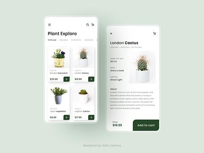Eve's Garden UI - Plant Online Shop Platform ui designs online store shopping app e-commerce garden plants user interface design user interfaces user interface ui design plant ux app uiuxdesign challenge uidesign ui design