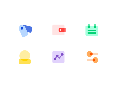 Icon_MD style set md design material list light illustration icon personal payment tag