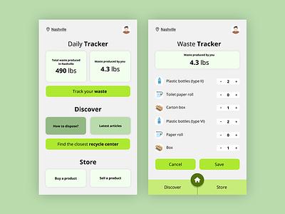 Concept App Design - Waste Management Application mobile application mobile app design mobile design mobile ui mobile app user experience minimal flat design ux ui