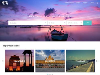 Hotel Classified Website Design minimal ux hotel booking website design web ui