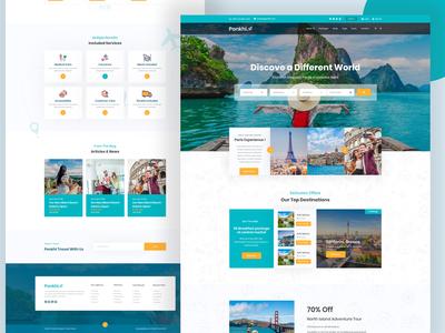 Travel Agency Website Design (HomePage-2)