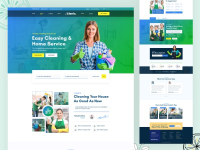 Cleaning Landing Page Template cleaning landing page template cleaning landing page template agency typography layout ui ux branding home page blue color 2020 design tranding desing landing page cleaning web design landing