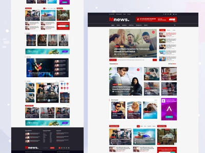 News paper Landing Page Concept news red color homepage design landing ui ux typography illustration branding layout redesign web design english news paper