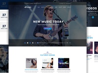 Music Template Home Page