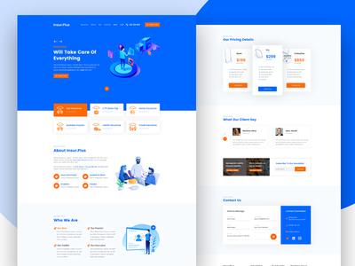 Insur.plus Home Page Design