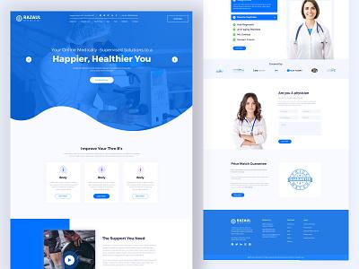 Medical Web Template redesign activity web branding landing mobile app illustration web design ux design