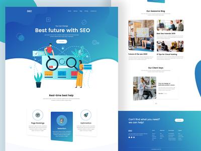 SEO Web Landing Page