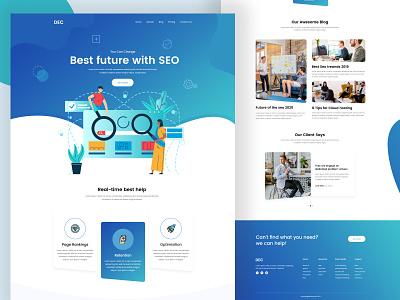 SEO Web Landing Page activity redesign app layout parallax mobile app web design landing illustration website seo