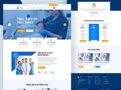 Dental Landing Page Template graphic design corporate vector web dentist typography branding redesign mobile app ux ui web design landing