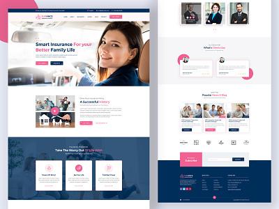 Insurance Website Design website insurance webdesign uxui redesign responsive typography branding illustration activity mobile app landing layout web design
