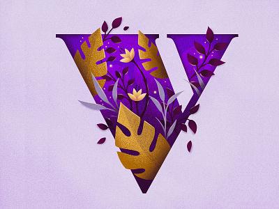 36 Days of Type – V 36daysoftype procreate hand drawn custom type type lettering typography