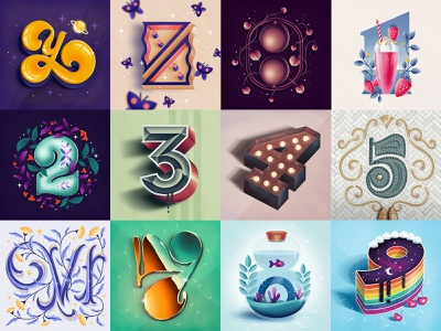 36 Days of Type – Pt 3 36daysoftype procreate hand drawn custom type type lettering typography