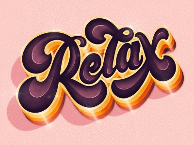 Relax relax procreate logotype hand drawn type custom type lettering typography