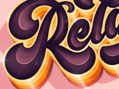 Relax Close Up relax procreate custom type hand drawn type lettering typography