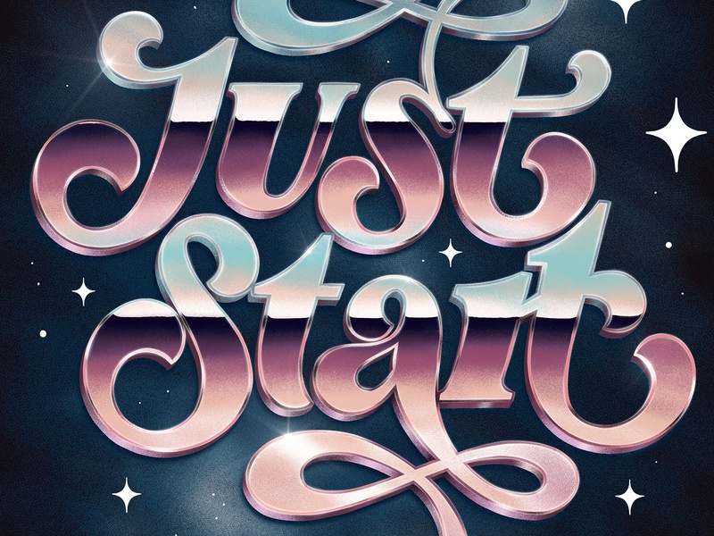 Just Start – 3D Letters Masterclass Close Up 3d lettering 3d letters procreate hand drawn custom type type lettering typography