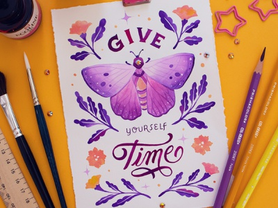 BUGS – Peachtober Challenge 2020 watercolour watercolor painting watercolor peachtober peachtober20 design illustration hand drawn custom type lettering type typography