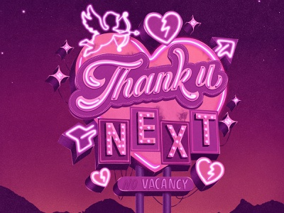 Thank u, next – Retro Sign Masterclass retro sign retro logo retro design hand lettering design logotype procreate illustration logo hand drawn custom type type lettering typography
