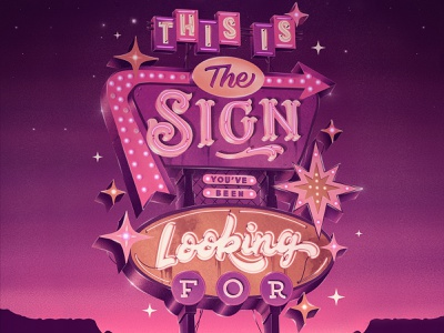 This Is The Sign You've Been Looking For – Retro Sign Masterclas retro lettering retro sign procreate app procreate brushes procreate art hand lettering procreate hand drawn custom type lettering typography